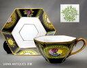 里帰り品 オールドノリタケ Noritake 1911年 アールデコスタイル 六角形 カップ&ソーサー