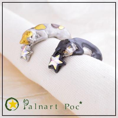 パルナートポック リング ララバイ フリーサイズ メール便送料無料【Palnart Poc/パルナートポック】【Brough Superior/ブラフシューペリア】 猫 ネコ ねこ キャット スター 星 指輪 アクセサリー レディース  10P18Jun16