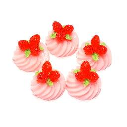 いちごのケーキ 5個セット★スイーツデコパーツ ストロベリー 苺 イチゴ【RCP】