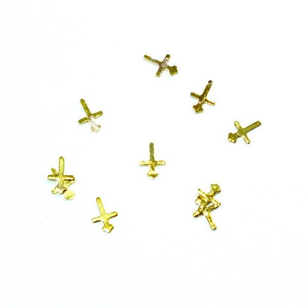 レジンやネイルアートに!「十字架」 極薄メタルパーツ 10枚セット クロス n7【RCP】