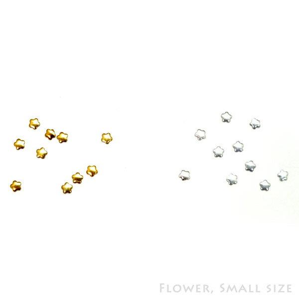 レジンやネイルアートに!スタッズっぽい小さめパーツ 花形 Sサイズ(3mm) フラワー【RCP】
