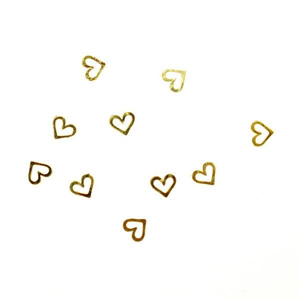 レジンやネイルアートに!「シンメトリーハート」 極薄メタルパーツ 10枚セット 両面メッキ n12【RCP】