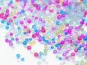 【ミニチュアパーツ】(814)ガラスドロップ マイクロサイズ カラフルMIX