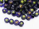 【ミニチュアパーツ】(M1) イタリア製 ミルフィオリ 単色  星と月 4粒入り 02P03Dec16