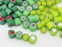 【ミニチュアパーツ】(M6) イタリア製 ミルフィオリ グリーンMIX 4色ミックス 02P03Dec16