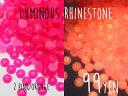 (746) ルミナスラインストーン 2.ピンク・オレンジ 3〜4mm 30粒 ネイルにも(蓄光)