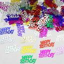 (we9) ミラー メタリック ハッピーバースデー  メッセージ ロゴ ホログラム HAPPY BIRTHDAY シャワー 誕生日