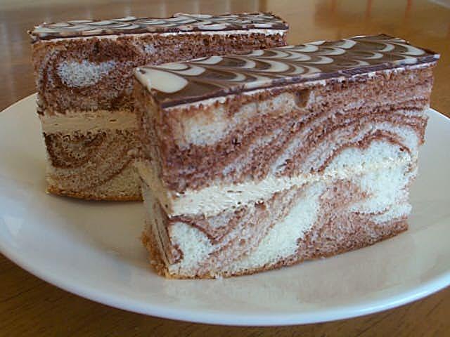 【砂丘マーブル/プチ】マーブル模様のチョコケーキ