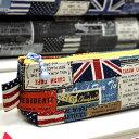 「 かっこいいヴィンテージラベル 」 生地 国旗 ポップ アメリカ イギリス