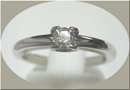 【ダイヤモンドグレイディングレポート付き】Pt0.20ctダイヤモンドプラチナリング(グレードI1)