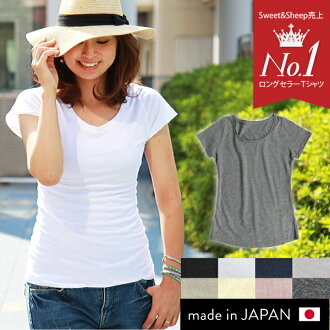 Womens T shirt short sleeve plain inner basic simple U neck black white day delivery ★ cutoff round T shirt.