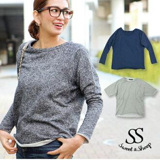 Trainers, tops, long sleeve, plain, ladies, Sweet &Sheep original limited product sweatshirts Dolman tops ◆