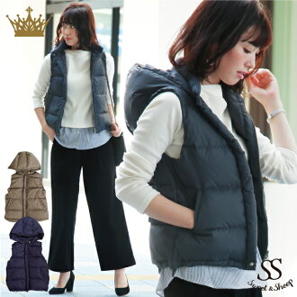 Dumbest down ladies compact simple Sweet &Sheep original ◆ down vest