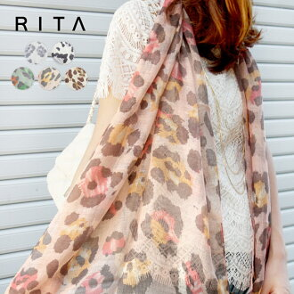 Stole shawl Leopard pattern mulch and straw or soft sweet & sheep select Rita ladies accessory sunburn protection heatstroke ◆ Leopard print gauze scarf