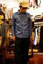 代引手数料・送料無料 UES (ウエス) シャンブレーワークシャツ 500954 ブルー ワンウォッシュ