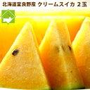 スイカ 北海道富良野産 クリームスイカ 4〜5kg×2玉入り 2玉入り 送料無料