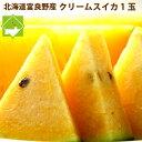 スイカ 北海道富良野産 クリームスイカ 5kg以上1玉 送料無料