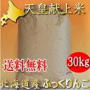 平成30年 北海道産 冷めても美味しいお米 ふっくりんこ 玄米 30kg 送料無料