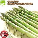 アスパラガス 送料無料 北海道 富良野産 グリーンアスパラガス  Lサイズから3Lサイズ 2kg