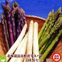 アスパラガス 北海道富良野産 グリーン・ホワイト・ラベンダーアスパラを3種類 2kgセット【送料無料】