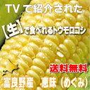 生で食べれるトウモロコシ 北海道富良野産 恵味 L