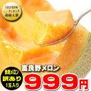 北海道富良野産 訳あり 赤肉メロン2Lサイズ 1.4kg以上 1玉入り【05P09Jul16】