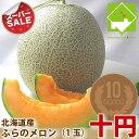 ふらのメロン 北海道富良野産 赤肉メロン 1.2キロ以上 1玉【同梱不可】【送料別】