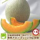 北海道富良野産 赤肉メロン 最高級 特大サイズ 1玉(2500g以上)【送料無料】【お中元ギフト】【DEAL】