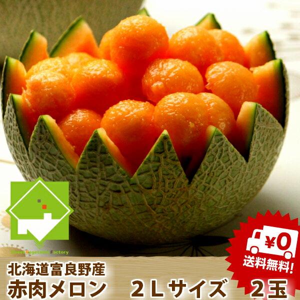 ふらのメロン 北海道富良野産 赤肉メロン 2Lサ...の商品画像