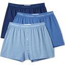 (取寄)カルバンクライン アンダーウェア メンズ コットン クラシック 3 パック ニット ボクサー Calvin Klein Underwear Men's Cotton Classic 3 Pack Knit Boxers BlueAssorted