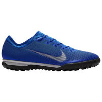 (取寄)ナイキ メンズ マーキュリアル ヴェイパー X 12 プロ tr Nike Mens Mercurial VaporX 12 Pro TF Racer Blue Metallic Silver Blackの画像