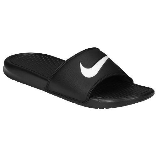 NIKE ナイキ サンダル メンズ ベナッシ スウッシュ スライド Nike Men's Benassi Swoosh Slide Black White
