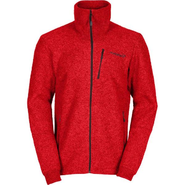 (取寄)ノローナ メンズ スヴァールバル ウール ジャケット Norrona Men's Svalbard Wool Jacket Crimson Kick 【コンビニ受取対応商品】