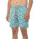(取寄) メンズ スイム フローラル スイム ショーツ Mr. Swim men Mr. Swim Floral Swim Shorts (For Men) Turquoise