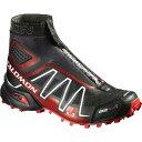 サロモン トレイルランニングシューズ スノークロス CS トレイル ランニングシューズ Salomon Men's Snowcross CS Trail Running Shoe Black/Radiant Red/White 【コンビニ受取対応商品】