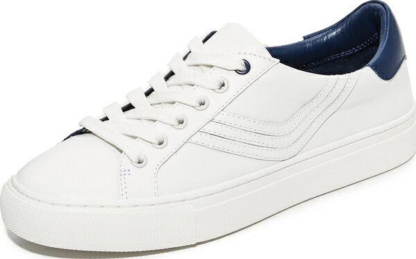 (取寄)Tory Burch Women's Tory Sport Chevron Colorblock Sneakers トリーバーチ レディース トリー スポーツ シェブロン カラーブロック スニーカー Snow White/Navy Sea Tory Burch トリーバーチ スニーカー シューズ