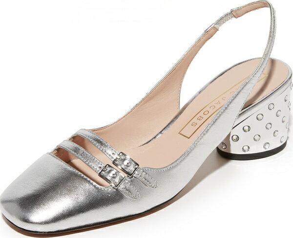 (取寄)Marc Jacobs Bette Slingback Pumps マークジェイコブス ベット スリングバック パンプス Silver Marc Jacobs マークジェイコブス パンプス シューズ 靴