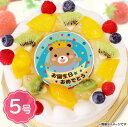 誕生日ケーキ お誕生日おめでとう(男の子・クマ) 生クリーム 5号サイズ(4~6名分)【バースデーケーキ】【ギフト、プレゼント】:フォチェッタ