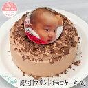 チョコプリントケーキ バースデーケーキ 誕生日ケーキ 5号 (4-6人分) 写真 お祝い 内祝い 父の日ギフト 父の日プレゼント 母の日ギフト..