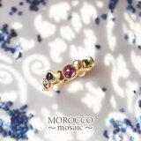 大人の上品モロッコジュエリー「MOROCCO〜mosaic〜」K10YG 天然カラーストーンリング【】【smtb-m】【楽ギフ包装選択】