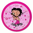 【Betty ウッド ウォールクロック】Betty Boop ベティ ブープ キャラクター グッズ 雑貨 クロック 時計 壁掛け USA 直輸入