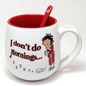 【Betty 10oz. マグ w/スプーン】Betty Boop ベティ ブープ キャラクター キッチン グッズ 雑貨 マグカップ マグ USA 直輸入