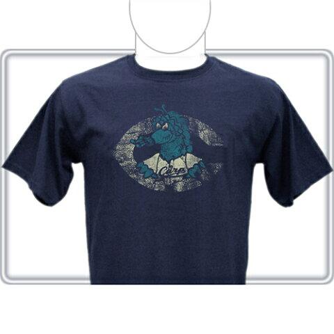 【カープ スライリー ヘビーウエイト Tシャツ ネイビーブルー】カープグッズ CARP カープ グッズ 広島 東洋 公認 ファッション