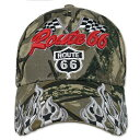 RT 66 (ルート 66) キャップ ROAD RACING FLAGS カモ 66-AW-CP009CAMO