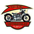 【スティール サイン Crocker Motorcycle】モーターサイクル バイク ガレージ 壁掛け 看板 インテリア 雑貨 USA 直輸入