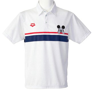 XS size only! DIS-2371 arena arena disney Disney Mickey short sleeve polo swimming swim WHT fs3gm