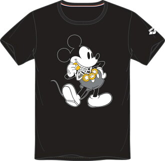 Only as for the medium size! DIS-2368 arena arena Disney disney Mickey short sleeves T-shirt swimming black fs3gm