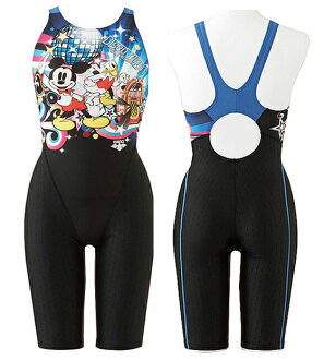 Size M L only! DIS-3301 W arena arena disney Disney nux-FD nukes ladies women's swimming swimsuit Mickey & Donald ハーフスーツ half spats for swimming swimwear fs3gm