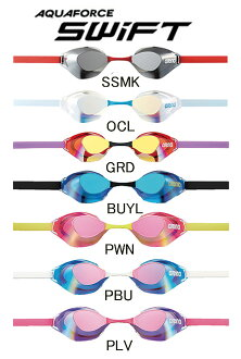 New colors in stock! AGL-130M arena arena アクアフォーススイフト mirror goggles ノンクッション mirror swimming goggles swim goggles swim swimming for Kitajima, Irie players wear world swimming fs3gm