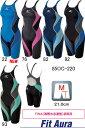 ☆ミズノ(MIZUNO) 女性用 競泳水着 Fit Aura(フィットオーラ) ハーフスーツ 85OC-22092 SSサイズ★